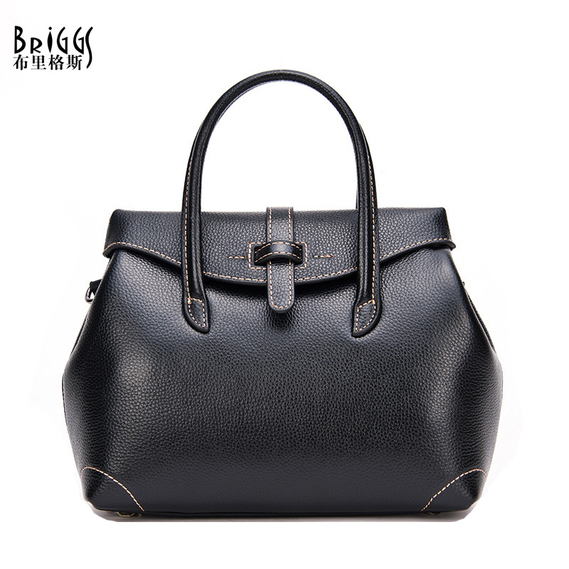 BRIGGS Women Handbag Cow Genuine Leather Bag High Quality Shoulder Messenger Bags Crossbody Casual Tote Women hand Bags(China (Mainland))