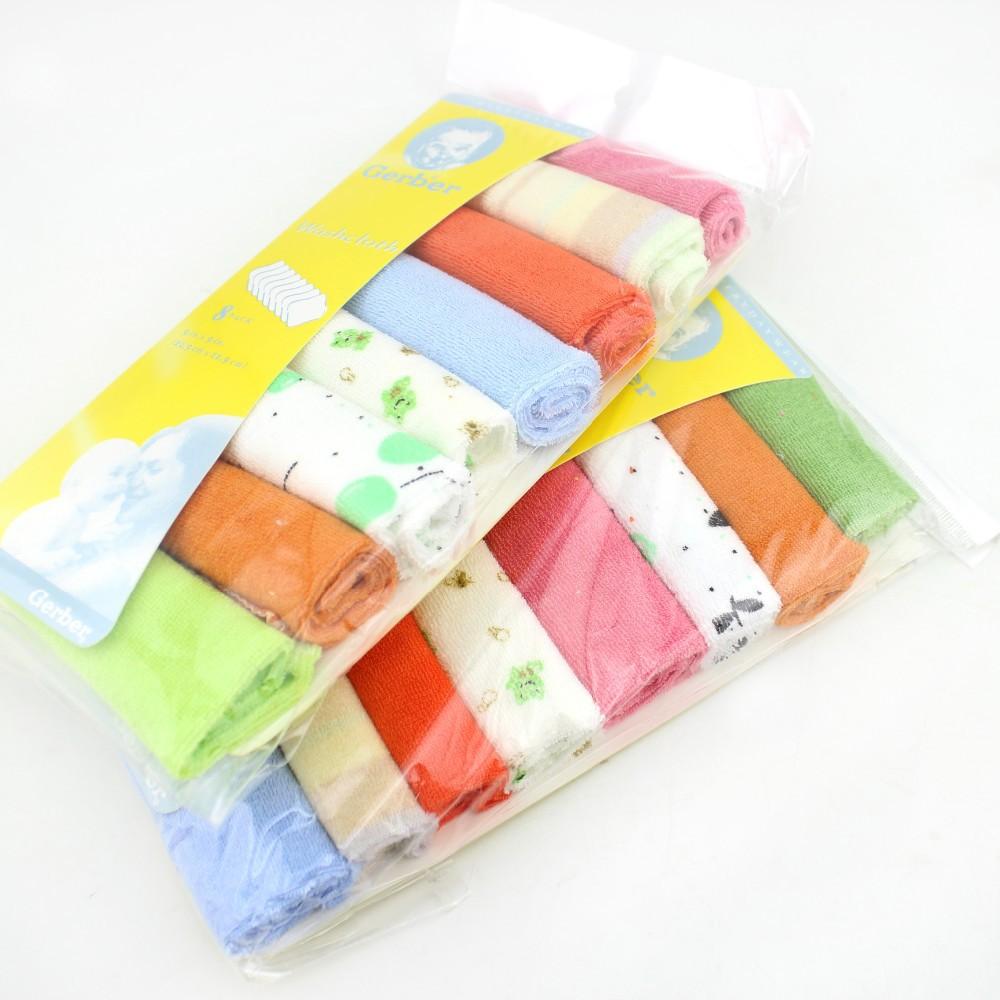 16pcs baby мальчик и девочка Хлопок платок дети лицо полотенце детской Биб детей мыть ткань