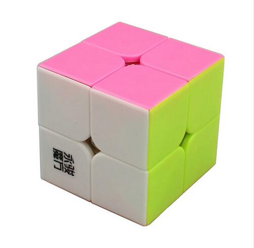 HOT 2017 Brand New MoYu YuPo 2x2 Magic Cube (50mm) 2 Layers Stickerless Speed Twist Square Cubo Magico Puzzle Educational Toy(China (Mainland))