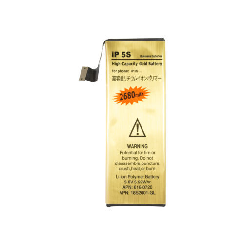 Free Shipping For iphone 5S battery 3.7V 2680mAh High Capacity 5S Gold battery replacement Battery(China (Mainland))
