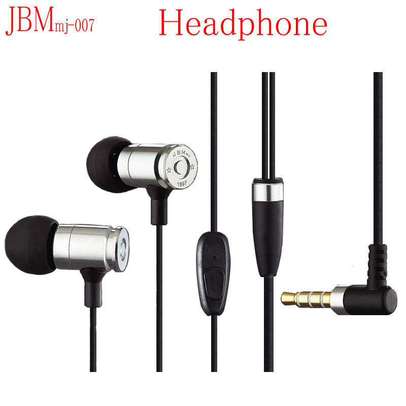 2015 New High Quality JBM Bullet Earphone MJ007 Flagship Edition Gold Earphones Heavy Metal Headphones<br><br>Aliexpress