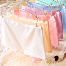 2015 Top Quality Brand Girl Safety Panties Comfort 9 Colors Cute Pink 100% Cotton Underwear Women Boxer Briefs String 6NK008-1(China (Mainland))