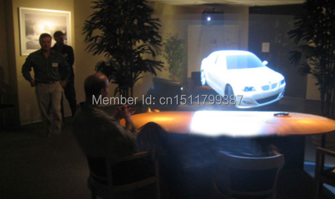 Free Shipping Transparent Rear Projection Film, Hologram Rear Projection Foil(China (Mainland))