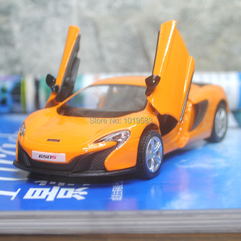 Brand New UNI 1/36 Scale Car Model Toys Mclaren 650S Diecast Metal Pull Back Car Toy For Gift/Collection/Kids -Free Shipping(China (Mainland))