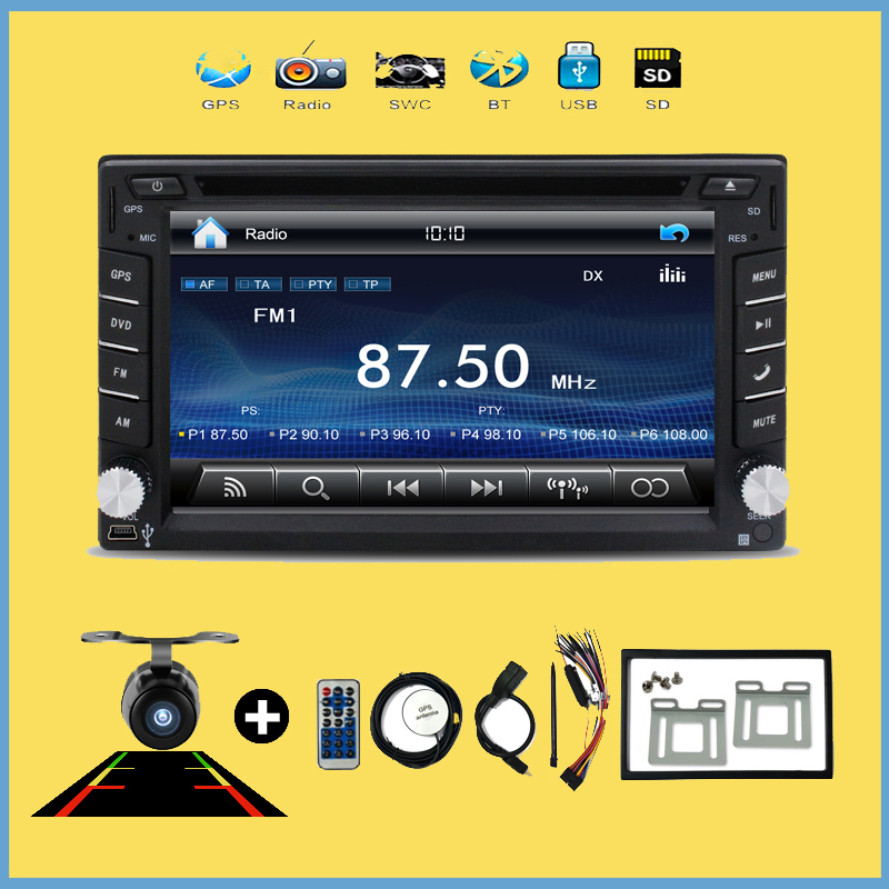 Multimedia Universal Car Radio Double 2 Din Car DVD Player GPS Navigation In Dash Car PC Stereo Video Free Map Car Electronics(China (Mainland))