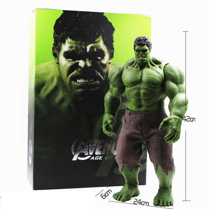 Hot Avengers Incredible Hulk Iron Man Hulk Buster Age Of Ultron Hulkbuster 42CM PVC Toys Action Figure Hulk Smash(China (Mainland))