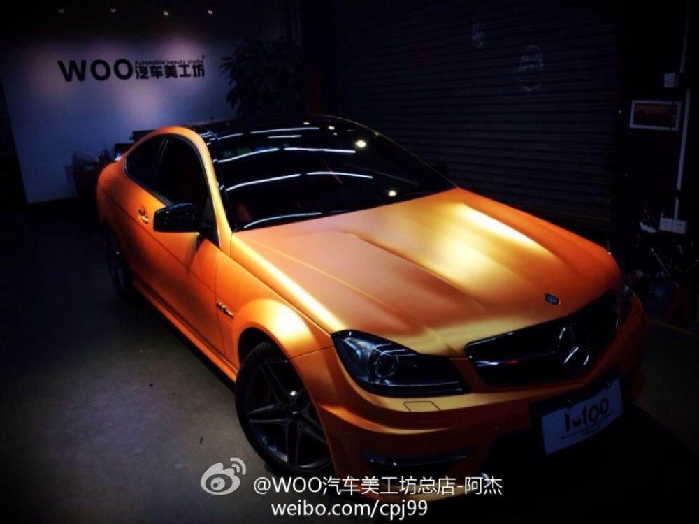New orange ice film matte chrome brushed Aluminum car wrap vinyl film metal matte chrome car decoration sticker 1.52x20m(China (Mainland))