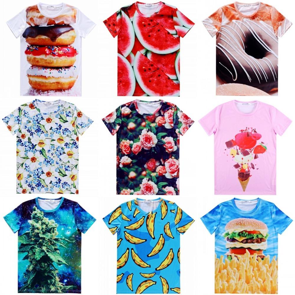 Женская футболка t camisetas t 3d flowers женская футболка brand camisetas ropa mujer camisetas y ballinciaga 2015 ld226
