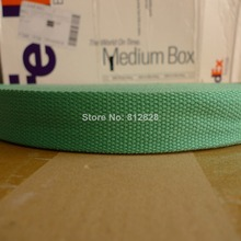 50 Yards 1.25'' 32mm #22 Kelly Green Color High Quality Bag Straps Polyester Webbing(China (Mainland))