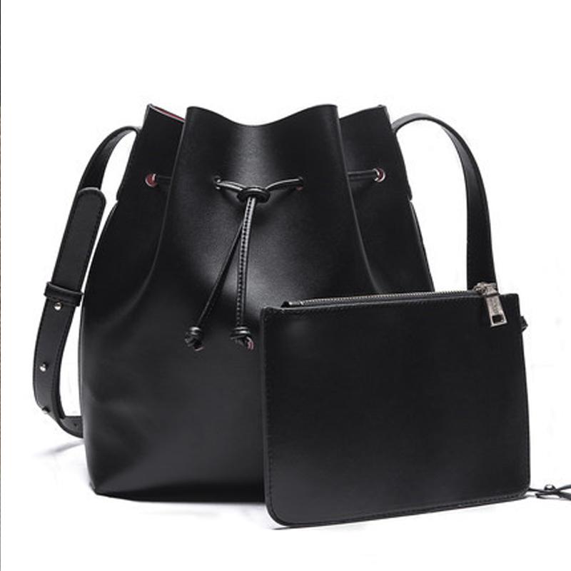 Ladies Handbags 2015 Fashion Women Leather Handbags Black Bucket bag Women Messenger Bags Shoulder Bag Crossbody bags for Women