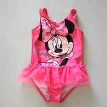 (0-2Y) Minnie Mouse Baby Girl Character One Piece Swimsuit mesh tulle swimwear kids bathing suits girls baby zwemkleding diaper(China (Mainland))