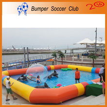 Free Shipping Free Blower ! Factory Customize ! Outdoor Games PVC Tarpaulin Large Inflatable Swimming Pool For Adult and Kids(China (Mainland))