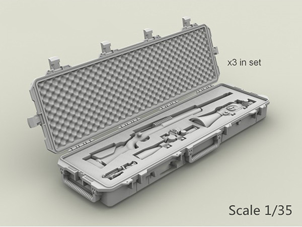Free Shipping 1/35 Scale Resin Figure US M24 weapons box 3 sets(China (Mainland))
