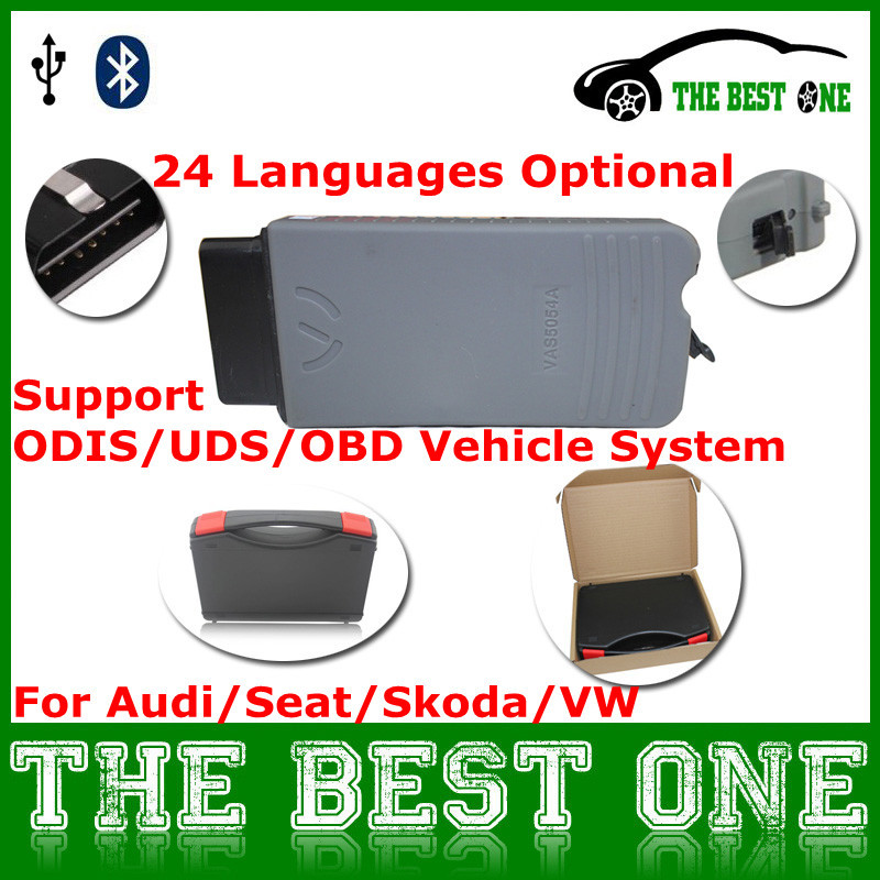 Latest ODIS V2.2.4 VAS 5054A Bluetooth Support UDS/K-Line/CAN VAS5054A Professional Diagnostic Tool VAS5054 On VW Group/Bentley(China (Mainland))