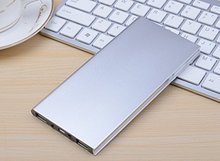 Ultra-thin Metal Case 20000mAh Polymer Battery Charger Dual USB Power Bank