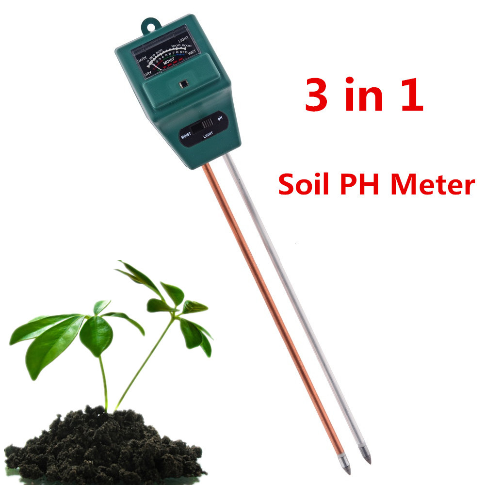 New 3 in 1 PH plants Flowers Soil PH Meter Digital Water Light Tester Sensor Monitor for Aquarium Indoor Garden Plant Flowers(China (Mainland))