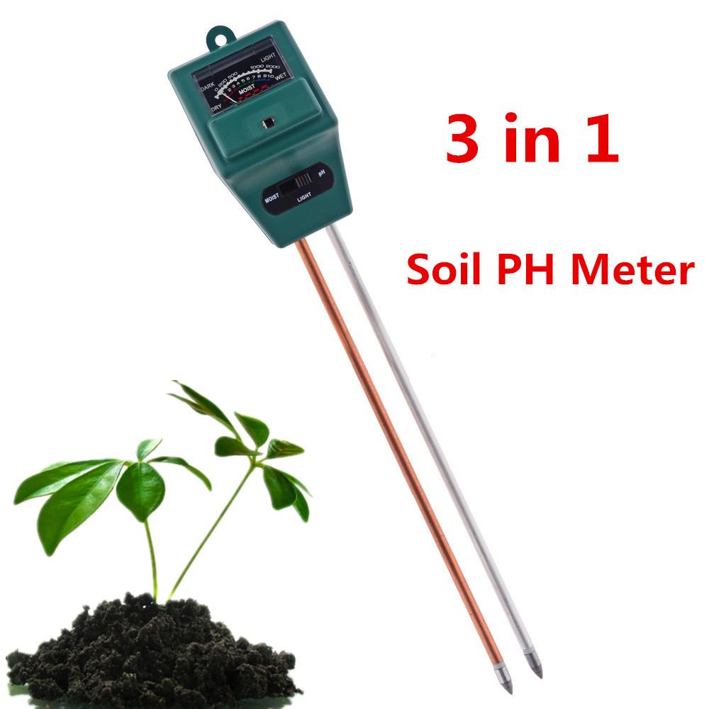 New 3 in 1 PH plants Flowers Soil PH Meter Digital Water Light Tester Sensor Monitor for Aquarium Indoor Garden Plant Flowers(China (Mainland))