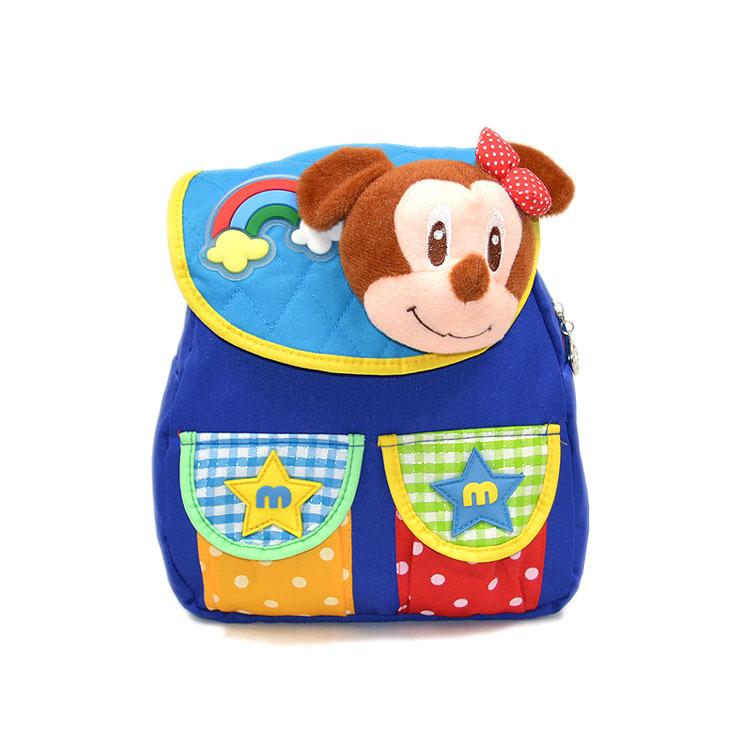 2014 kids backpack kindergarten girls boys children backpack school bag cartoon cute mickey snack pack 1-4 year(China (Mainland))