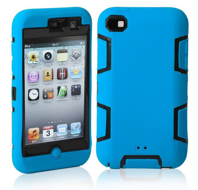 For Apple iPod Touch 4 Defendered Hybrid Impact Heavy Duty Rugged Combo Matte Shockproof Anti-shock Case Hard Cover(China (Mainland))
