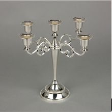 Free shiping Silver/Gold/Black/Bronze metal candle holder 5-arms candle stand 27cm tall wedding event candelabra candle stick(China (Mainland))