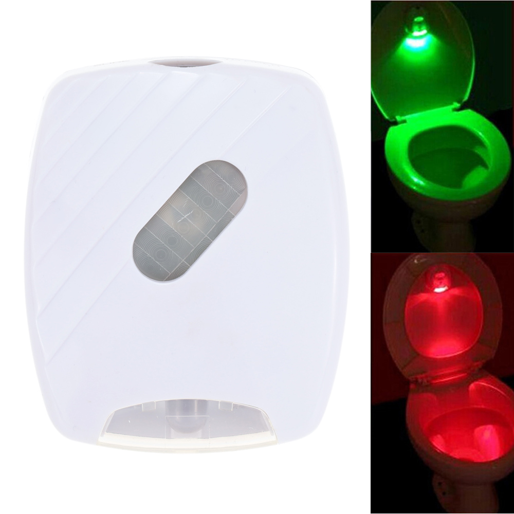 LED Sensor Motion Activated Toilet Light Flush Toilet Lamp Battery-Operated Night Light Free Shipping Toilet light(China (Mainland))
