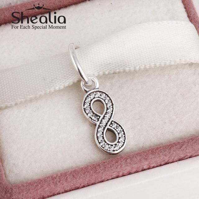 2015 новый 925 номер восемь шармов для женщин проложить ясно циркон подходит известный бренд diy браслеты SH0575