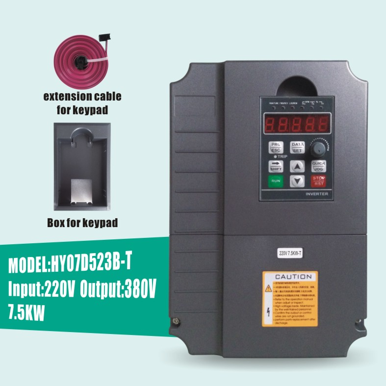 HUANYANG VFD Inverters AC drive 7.5KW motor Input Voltage 220V Output Voltage 380V VARIABLE FREQUENCY DRIVE Factory Direct Sales(China (Mainland))