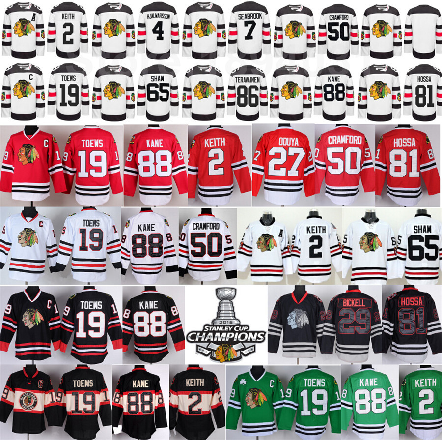 Chicago Blackhawks Jerseys 2016 Stadium Series Hockey 88 Patrick Kane 19 Jonathan Toews 2 Duncan Keith 50 Crawford 65 Shaw Hossa
