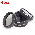 1 Set/4pcs For DJI Phantom 3 / 4 Accessories ND4+ND8+MCUV+CPL Lens Filter for Phantom 3/4 Professional  Advanced  Standard