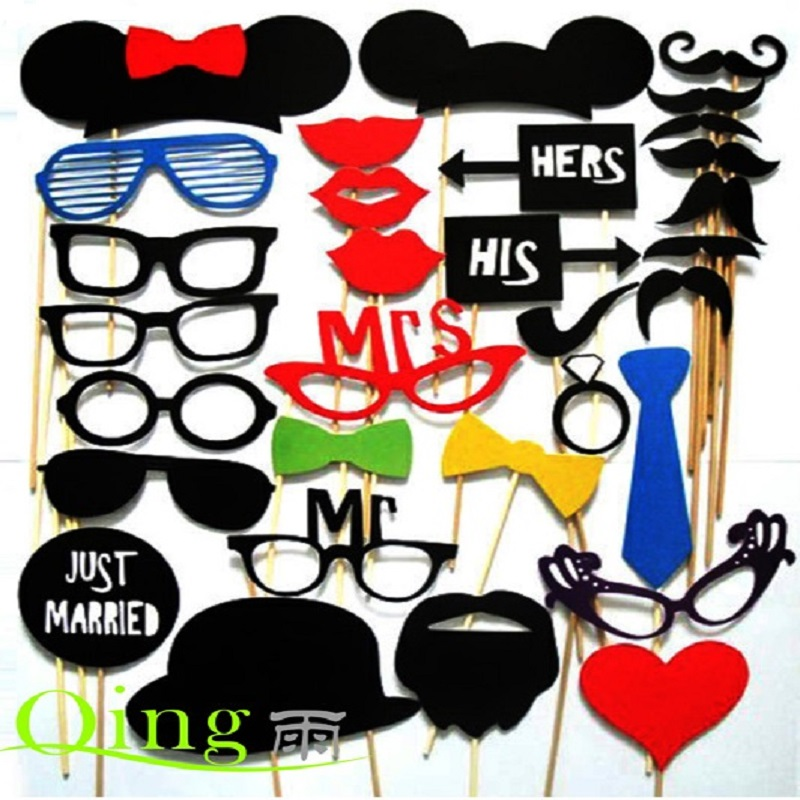 Photo Booth 34PCS/Set Colorful Fun Lip wedding decoration Photo Booth Props wedding party decoration favors Event Party Supplies(China (Mainland))