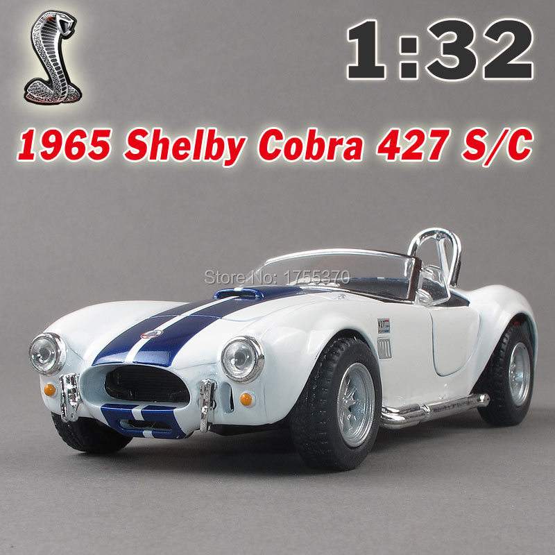 New Ford 1965 Shelby Cobra 1:32 Alloy Diecast Model Car Blue Toy Collection For Boy Children As Gift(China (Mainland))