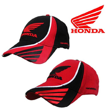 Men HONDA Racing Cap Marc Marquez F1 Car Moto gp Motorcycle Race Caps Male Sports Cotton Adjustable Sun Baseball Caps Black Red(China (Mainland))