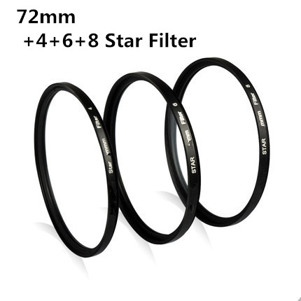 72mm 4 6 8 Point Star Filter Kit 4X 6X 8X Star Filter KIT SET with FREE CASE for DSLR DC lens(China (Mainland))