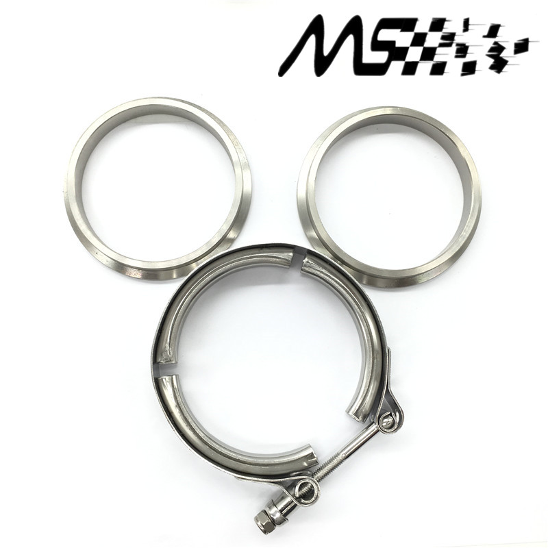 "New type 2.5"" V Band clamp flange Kit (Stainless Steel 201) For turbo exhaust downpipe(China (Mainland))"