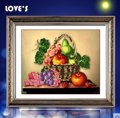 Diamond embroidered 5D basket new living room restaurant kitchen a round diamond stick cross stitch(China (Mainland))