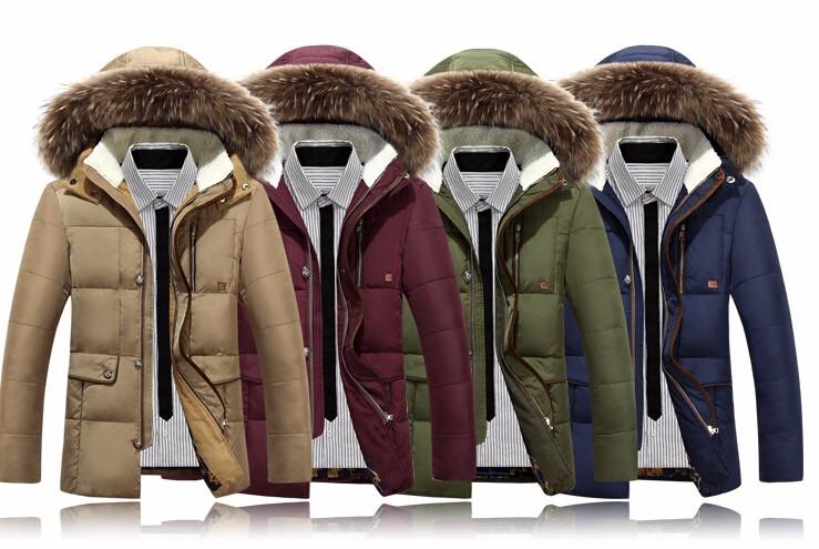 Скидки на 2017 Зимние Куртки Мужские Толщиной Теплые Меховые Пальто Slim Fit Толстовки пальто Повседневная Куртка Весте Homme M L XL XXL XXXL вниз куртки
