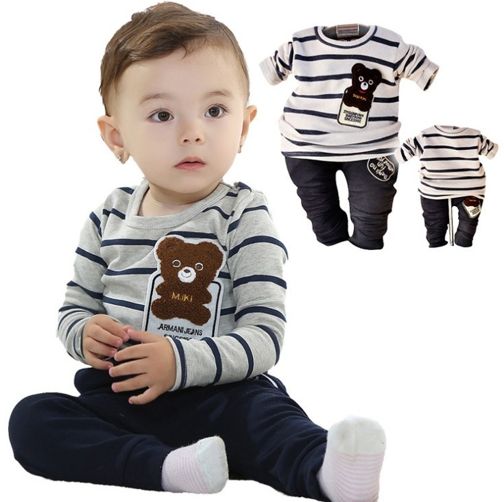 Spring new children's clothing boys suits two-piece SET shirt+pants trousers kid wear - Online Store 923589 store