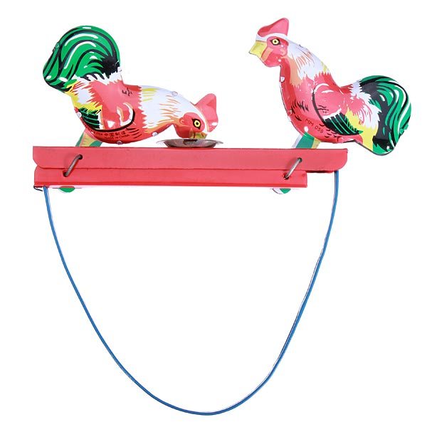Brand New High Quality HOT Children's Vintage Toy Tin Rooster Peck Working Condition Antique Tintoy For Kids(China (Mainland))