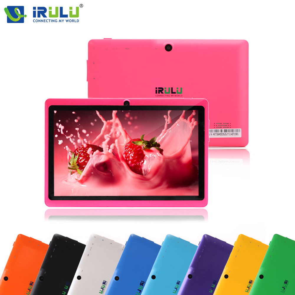 """iRULU eXpro X1 7""""1024*600 HD Google APP Play Android 4.4 Tablet PC Quad Core 16GB ROM WIFI OTG With Black Keyboard Pink New Hot(China (Mainland))"""