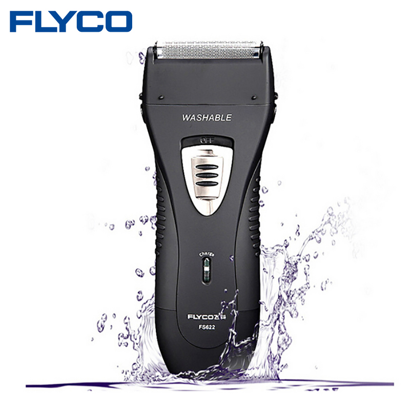 FLYCO Wet/Dry Waterproof Reciprocating Twin Blade Rechargeable Men's Electric Shaver Razor With Pop-up Trimmer Face Care FS622(China (Mainland))