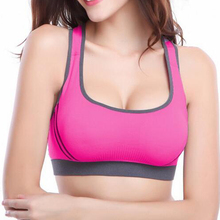 Buy Fashion Women Wire Free Seamless Solid Bra Fitness Bras Tops Breathable Underwear Padded Push Bra Full Cup for $2.84 in AliExpress store