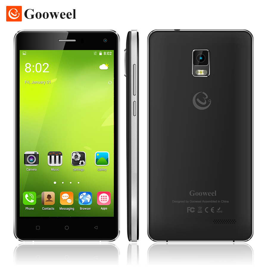 "Free Gift - Flip case Gooweel M13 3G Smartphone Android 5.1 mobile phone Quad Core 5.0"" HD screen 8MP camera GPS cell phone(China (Mainland))"
