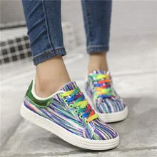Buy Hot New 2017 Fashion Flats Women Trainers Breathable Woman Shoes Casual Light Soft Walking Women Graffiti Shoes Zapatillas Mujer for $16.69 in AliExpress store