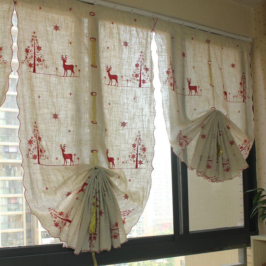Cortinas de ba o rojas - Cortina ventana cocina ...