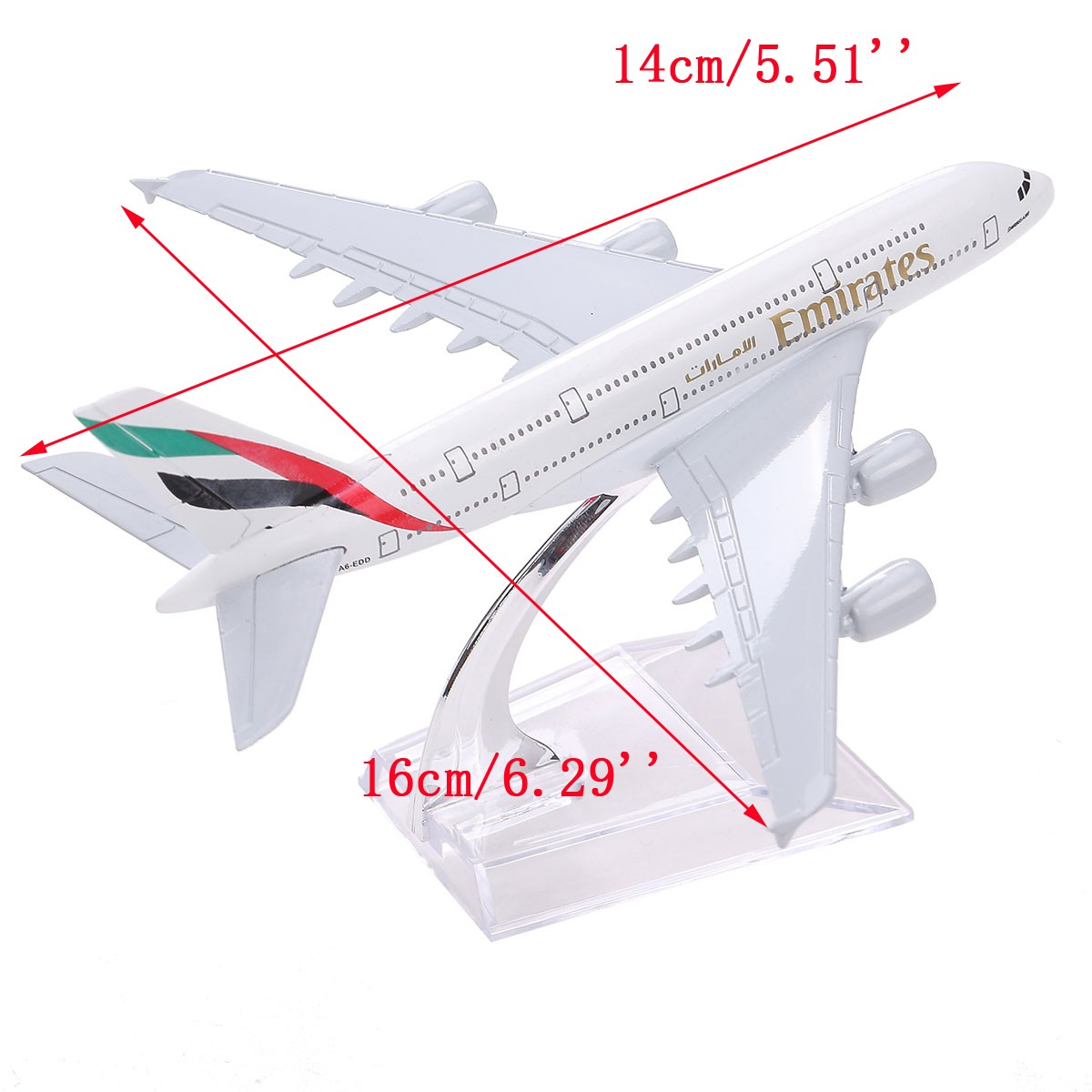 Brand New Airbus380 Emirates Airlines A-380 Aircraft Aeroplan 16cm High Simulation Diecast Model United Arab Emirates A380(China (Mainland))