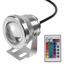 IP68 10W 12V Swimming Pool Led Light Underwater RGB 1000LM Waterproof Fountain Light 16 Color Change with Remote Controller(China (Mainland))