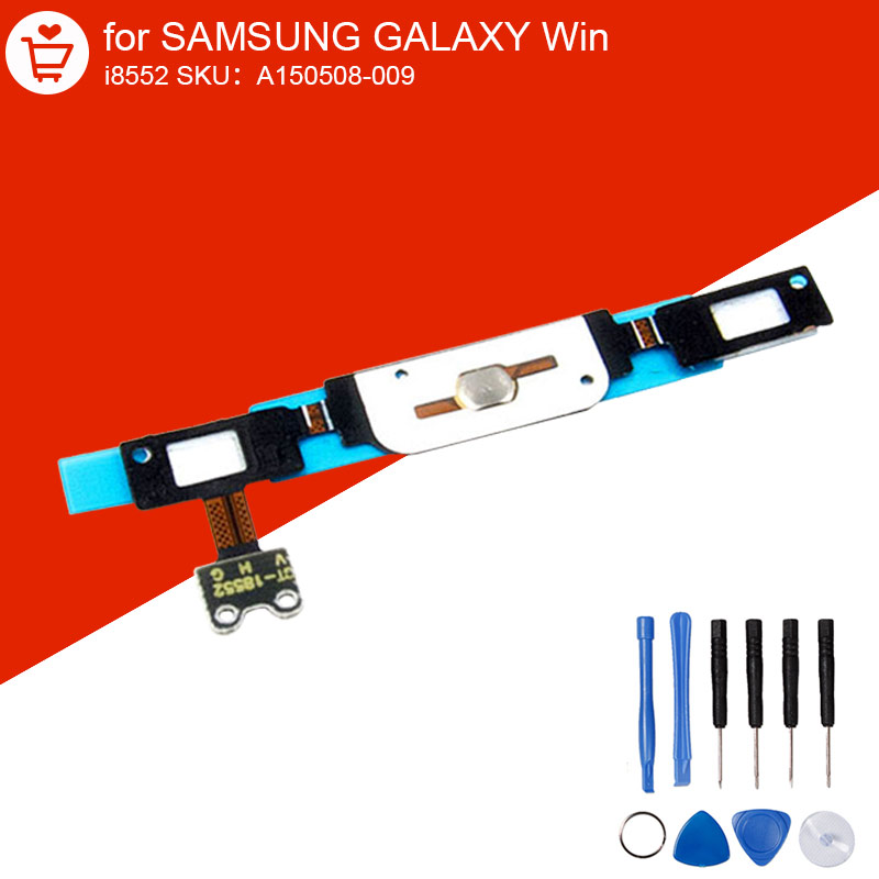 Flex Cable For Samsung Galaxy Win i8552 Menu Button Ribbon Keypad Touch Sensor With Home Button Original Parts With Repair Tools(China (Mainland))