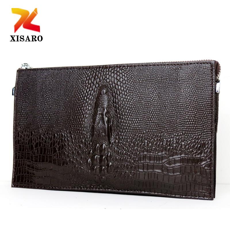 Гаджет  2015 new bag handbag crocodile embossed leather shoulder bag for portable male Xiekua package business None Изготовление под заказ