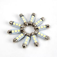 FREE SHIPPING 10x Super Bright 36mm 3 SMD 5050 White parking Canbus Error-Free Car LED Dome Light Lamp Bulb car styling