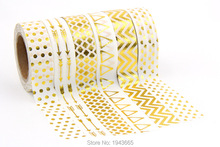 Buy NEW 6X Tape Gold Foil Printing Christmas Halloween Set DIY Sticky Deco Masking Japanese Washi Tape Paper Lot 10m for $8.40 in AliExpress store